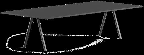 Zanetti Conference - Tafel met 25 mm HPL blad en gepoedercoate poten