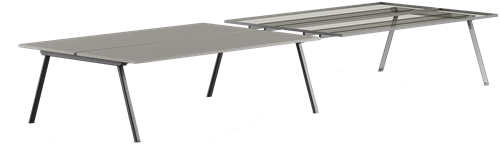 Zanetti Bridge - Tafel met 28 mm HPL blad en gepoedercoate poten