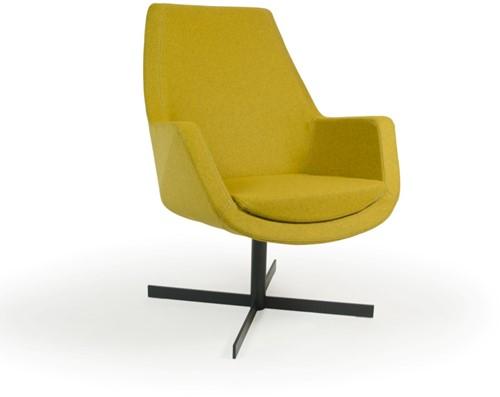 Loïs 4100/2 - gestoffeerde ontvangst/ lounge stoel op antraciet kruisvoet met middelhoge rugleuning