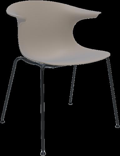 Loop Mono - vierpoot stoel met een gerecyclede soft touch kunststof zitschaal
