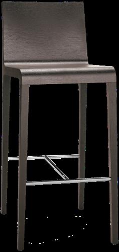Young 426 - houten design kruk met rvs voetensteun