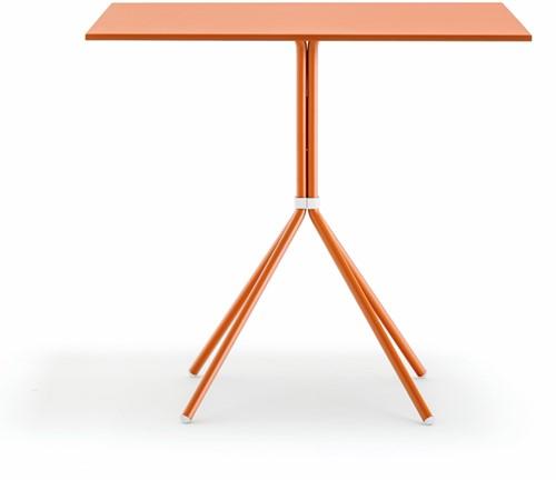 Nolita tafel 5454 - vierpoot tafel voor binnen en buiten gebruik, blad vierkant of rond