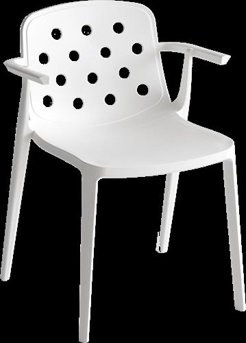 Pixel Arms - kunststof stoel met armleggers