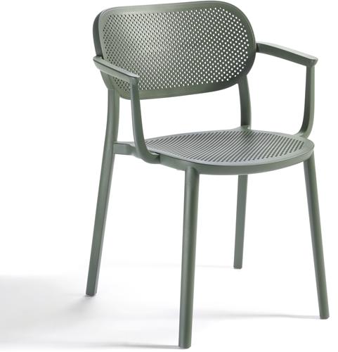 Hailey Armstoel - Stapelbare kunststof terrasstoel met armleggers
