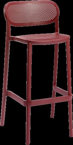 Hailey kruk - Stapelbare kunststof kruk, zithoogte 78 cm