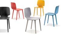 Babila 2750 - kunststof stoel met houten poten. FSC 100% gecertificeerd-7