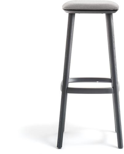 Babila 2702/A - houten kruk zitting gestoffeerd. FSC 100% gecertificeerd-2