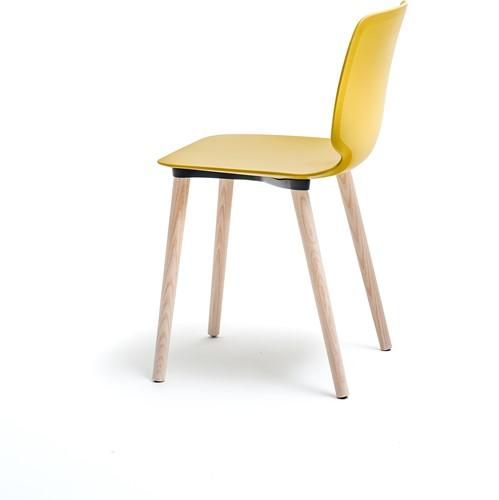 Babila 2750 - kunststof stoel met houten poten. FSC 100% gecertificeerd-5