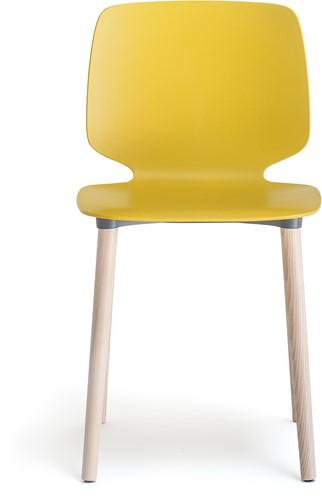 Babila 2750 - kunststof stoel met houten poten. FSC 100% gecertificeerd-1