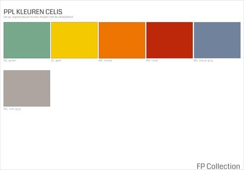 Kleurenoverzicht Celis