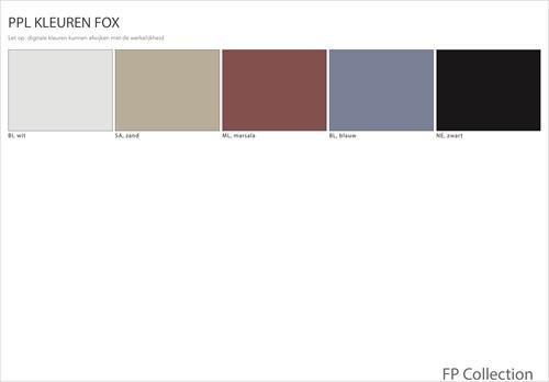 Kleurenoverzicht Fox
