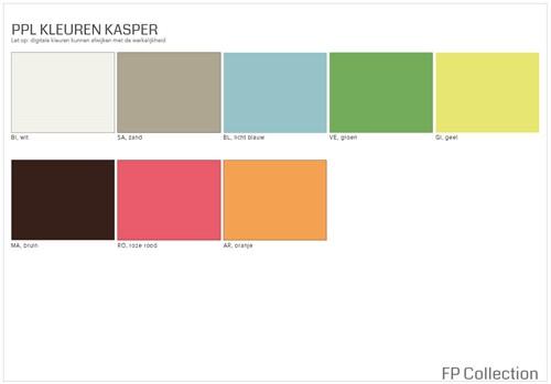 Kleurenoverzicht Kasper