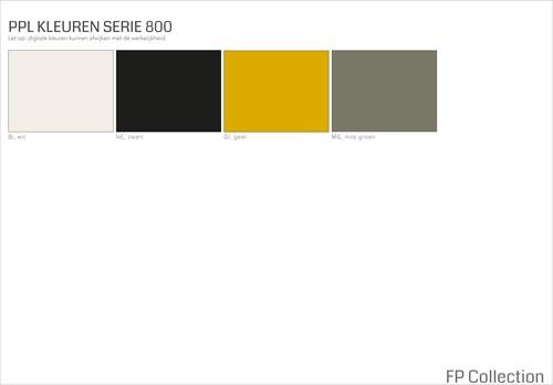 Kleurenoverzicht Serie 800