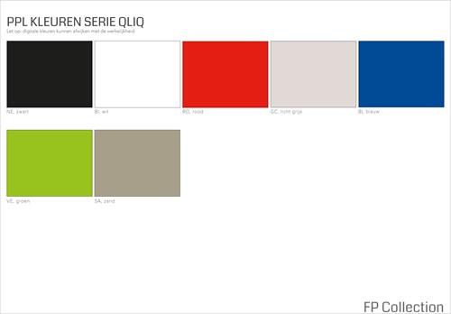 Kleurenoverzicht serie Qliq
