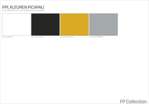 Picapau H76 - houten design kruk met kunststof zitting-1