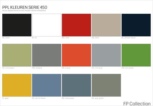 Kleurenoverzicht serie 450