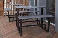 Yuke High - Hoge tafel met vaste banken-3