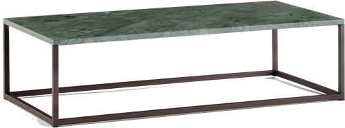 Code Marmer bijzettafel - salontafel marmer MGC blad 20 mm en dun vierkant buisframe NEF