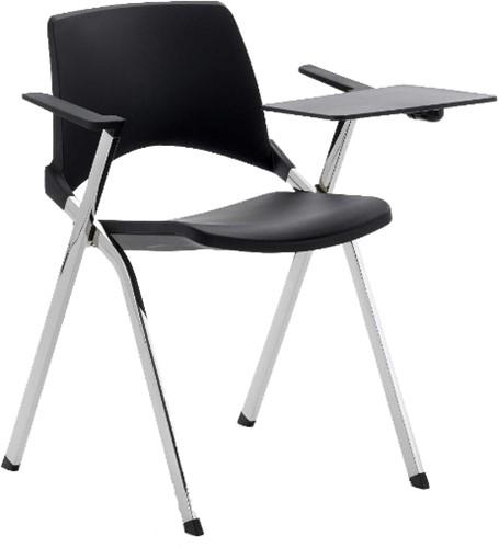 AC140 tablet rechthoekig- schrijftafeltje voor stapelbare stoelen serie 140, voor rechtshandigen