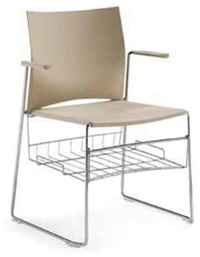 AC455 - bijbelrekje, lectuurrek chroom voor stoelenserie 450