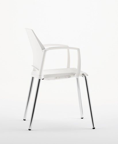 A580 - stevige kunststof kantine / school stoel met armleggers-2