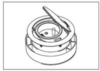 AC700-AC - Schuko data- stroompot voor tafelonderstel SC735 en SC736