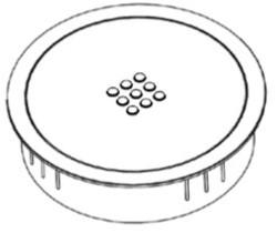 AC701 - draadloos oplaadpunt geschikt voor tafelonderstel SC735 en SC736