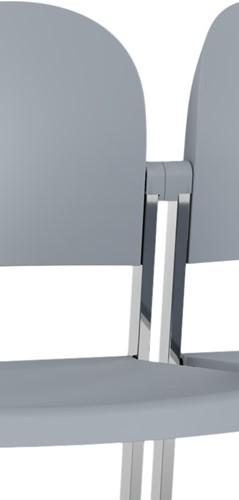 Staq AC750 Koppeling - Kunststof mannetje/vrouwtje koppeling voor stoelen zonder armleggers - kleur zwart
