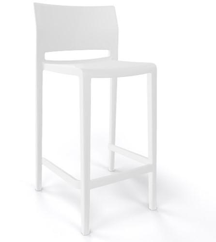 Active 76- kunststof kruk, kleur wit (00)