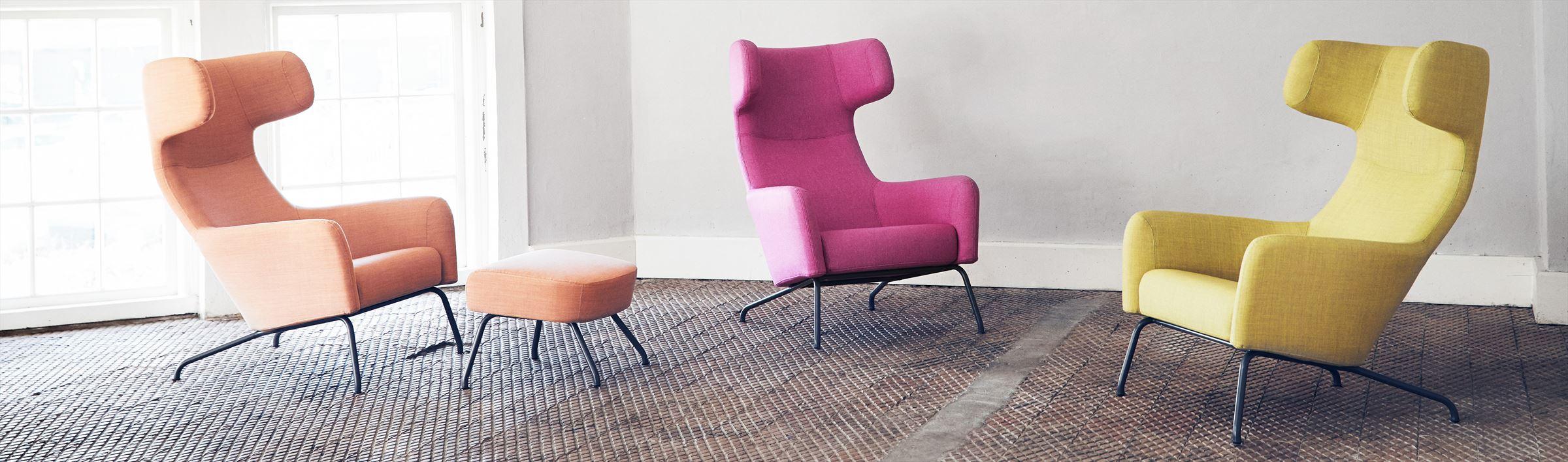 Ontwerp: Busk + Hertzog Een nieuwe klassieker. Comfortabele oorfauteuil voor ontspanning en overpeinzing.  In 2014 bestempeld met de Good Design Award. Perfecte fauteuil voor thuis of in de loungeruimte op kantoor.