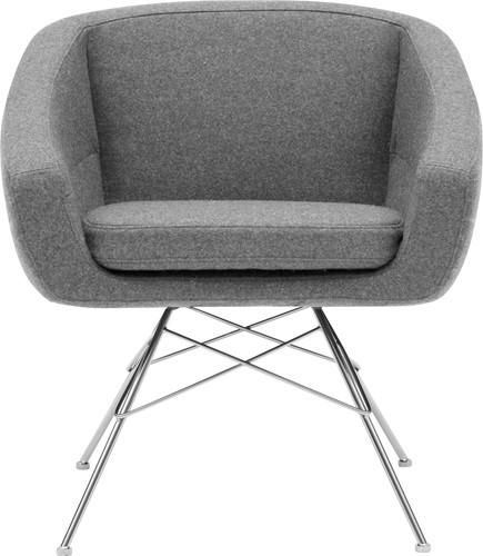 Aiko low - gestoffeerde stoel - CHROOM (CR) - Kvadrat Divina MD - 213