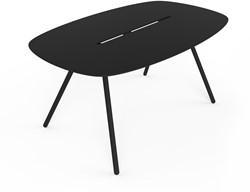 Lonc Longboard-a-Lowha - lange ovale vergadertafel met volkern blad, Nederlands design