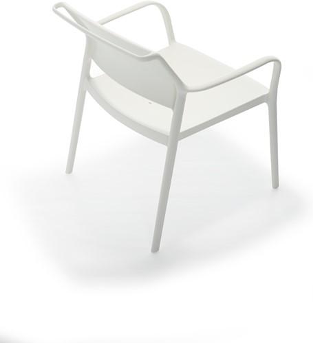 Ara 316 - kunststof lounge stoel met armleggers, kleur beige