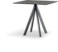 Arki 4 - kleine design tafel met een volkern blad en 4 schuine poten