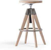 Arki Kruk, frame hout eiken en metaal. Gaslift hoogte verstelbaar 65-75 cm. FSC 100% gecertificeerd.