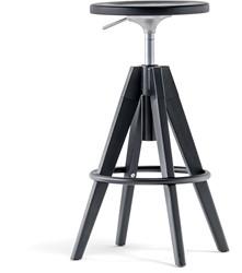 Arki Kruk, frame hout eiken en metaal. Gaslift hoogte verstelbaar 65-75 cm.
