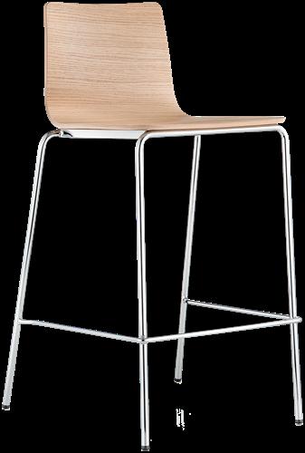 Inga 5617 - kruk met houten zitting