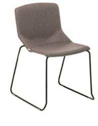 Formula slim 652 - gestoffeerde stoel met sledeframe