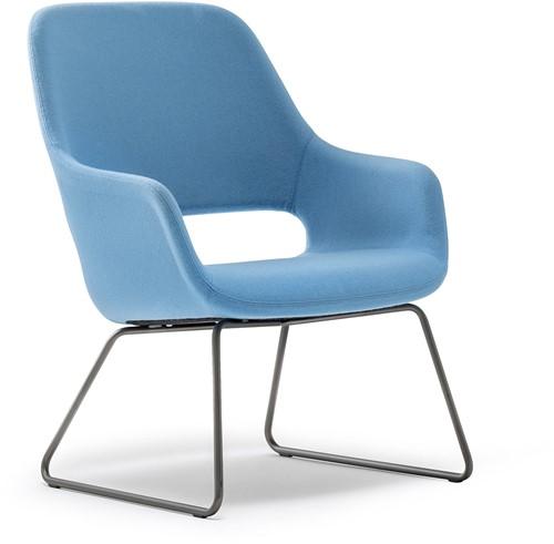 Babila Comfort 2749 - gestoffeerde loungestoel met metalen slede frame