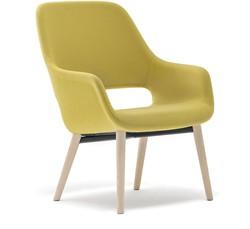 Armfauteuil Babila Comfort 2759 - gestoffeerde loungestoel met houten frame