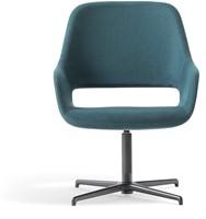 Babila Comfort 2789 - gestoffeerde loungestoel met aluminium swivel frame
