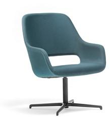 Armfauteuil Babila Comfort 2789 - gestoffeerde loungestoel met aluminium swivel frame