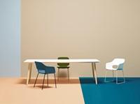 Babila Tafel - tafel met dun volkern blad en houten poten in scandinavische style -3