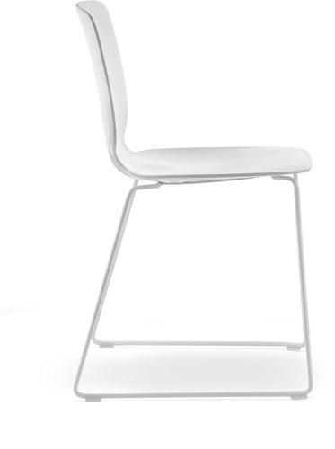 Babila 2740 - kunststof stoel met sledeframe-2