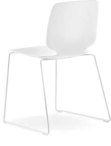 Babila 2740 - kunststof stoel met sledeframe-3