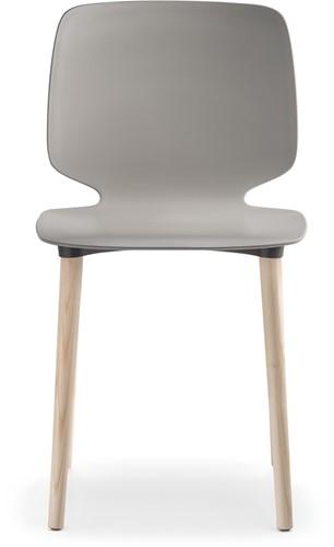 Babila 2750 - kunststof stoel met houten poten. FSC 100% gecertificeerd-2