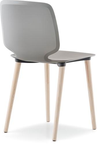 Babila 2750 - kunststof stoel met houten poten. FSC 100% gecertificeerd-3