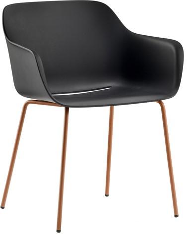 Babila XL 2734 - kunststof kuipstoel met extra brede zitschaal