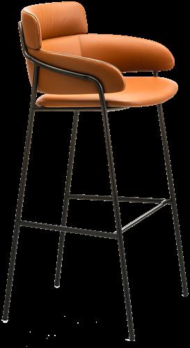 Strike  831 - ruime gestoffeerde comfortabele barkruk