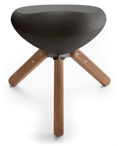 Lonc Beaser wood - kunststof kruk met houten poten-2